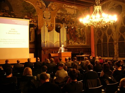 Traditionally, the annual celebrations of the ICWC take place in the venerable Old Auditorium of Philipps University.