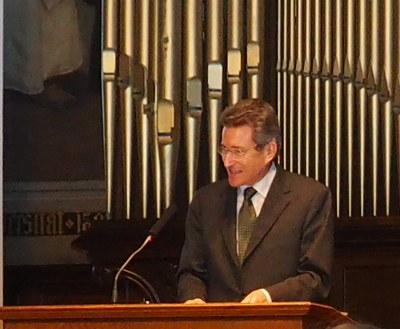 Keynote speaker Bishop Wolfgang Huber on the issue of